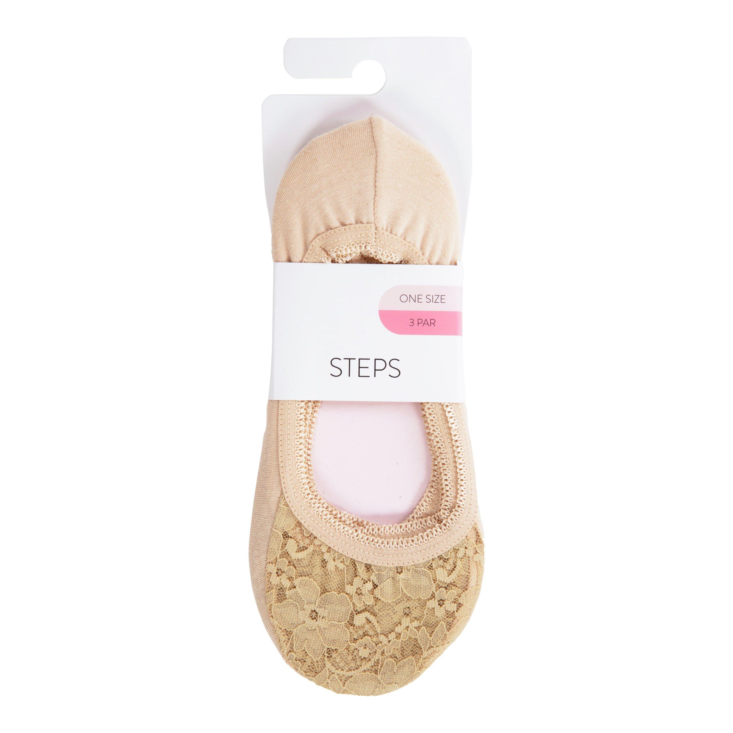STEPS SOKKER M/BLONDE 3PK BEIGE-100093