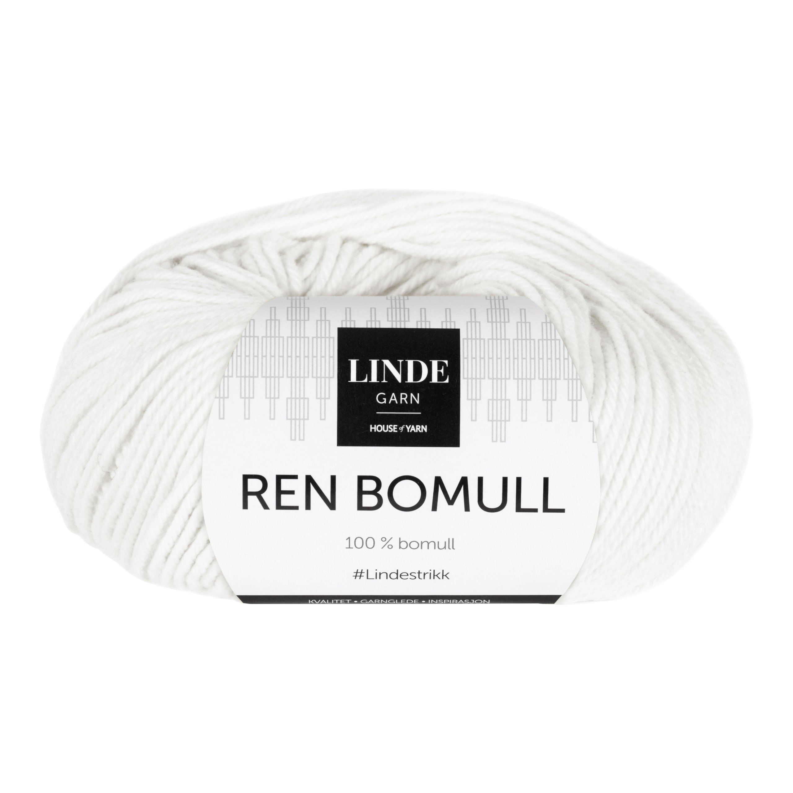 LINDE REN BOMULL 709 HVIT-100621