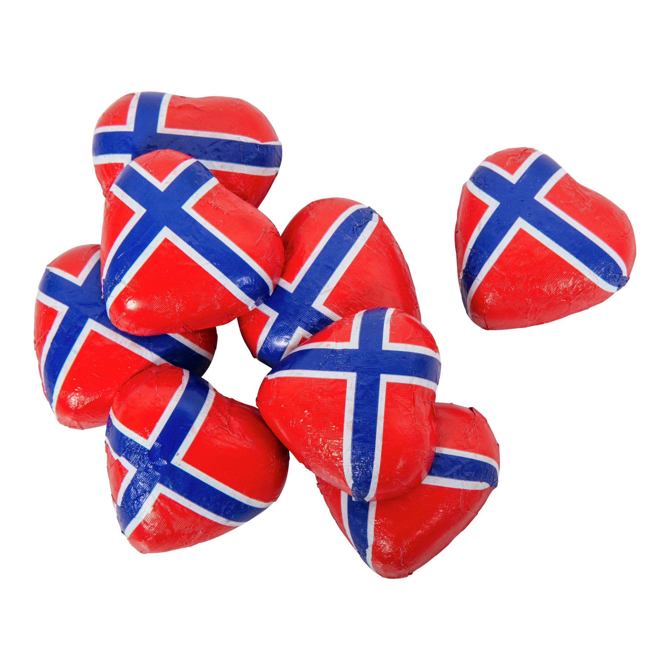 HJERTER I NETT NORSKE FLAGG 100G-100845