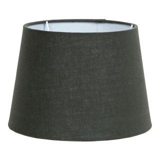 LINEN LAMPESKJERM MØRK GRØNN H:16CM-101195