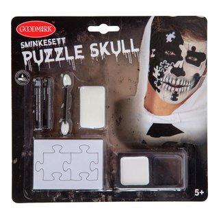 """SMINKESETT """"PUZZLE SKULL""""-102521"""