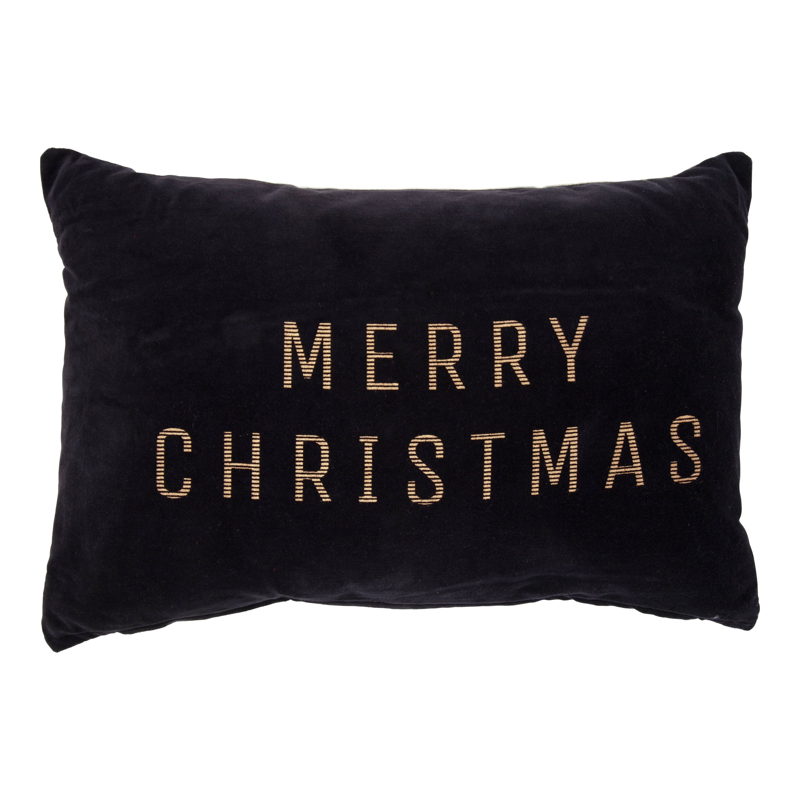 MERRY CHRISTMAS VELOURPUTE 40X60CM SORT-103049