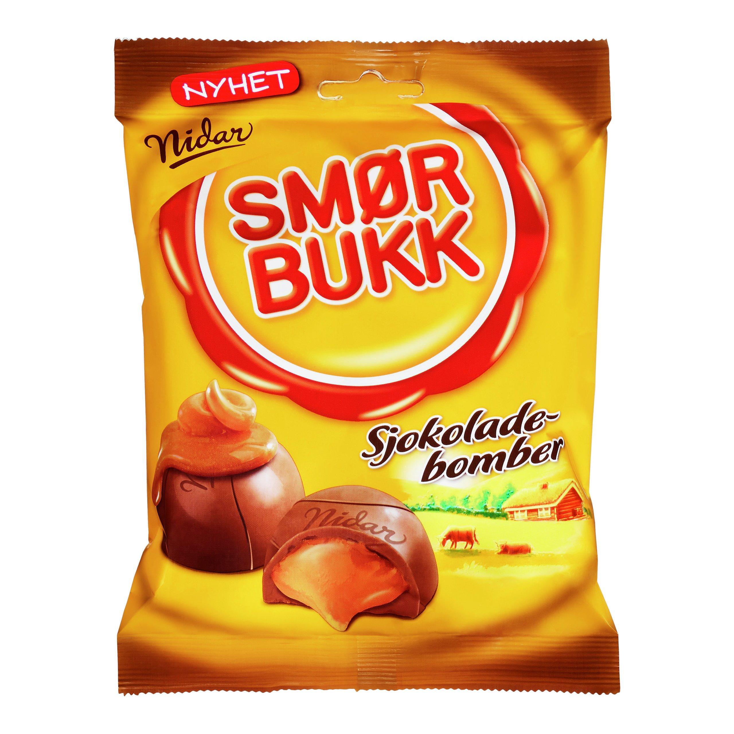 SMØRBUKK SJOKOLADEBOMBER 168G-103163