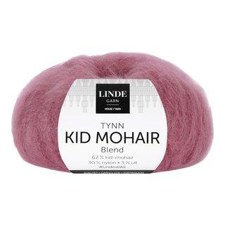 LINDE TYNN KID MOHAIR 555 MØRK ROSE 25G-103621
