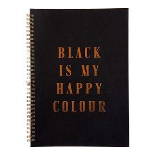 """SPIRALHEFTE A4 80 ARK SORT """"BLACK IS MY""""-105061"""