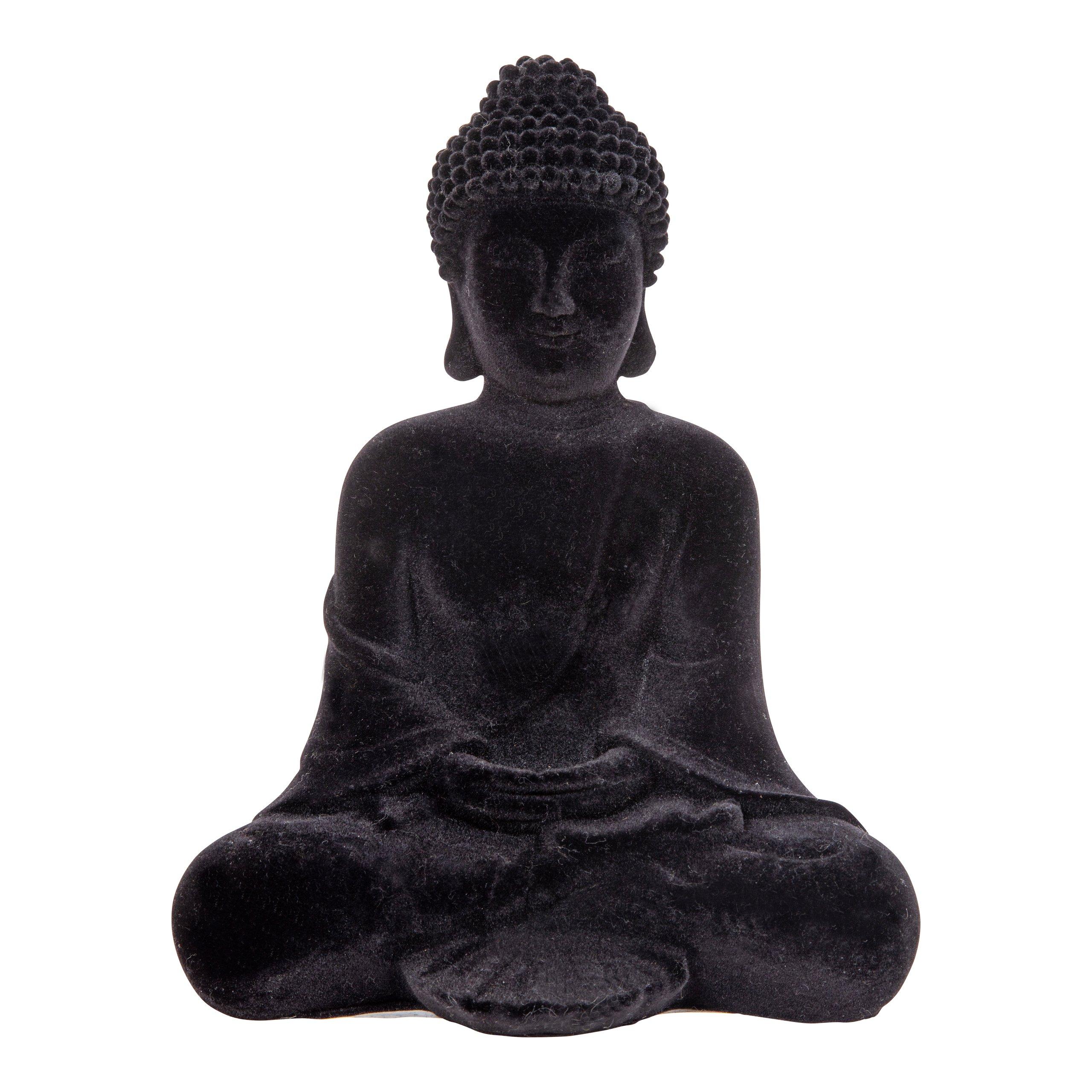 BUDDAH VELUR SORT H23CM-105323