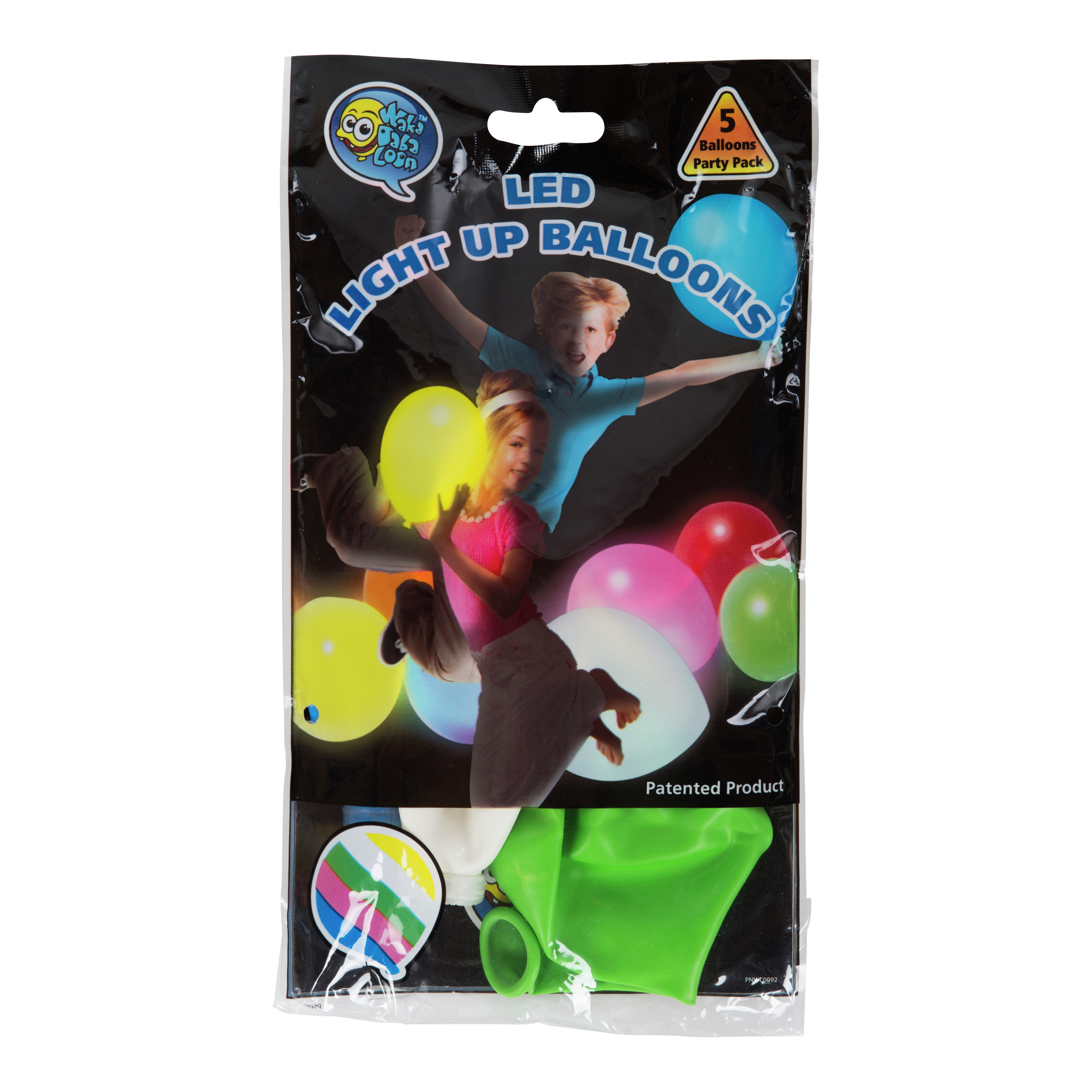 BALLONG M/LED LYS 5PK ASS-BAL062