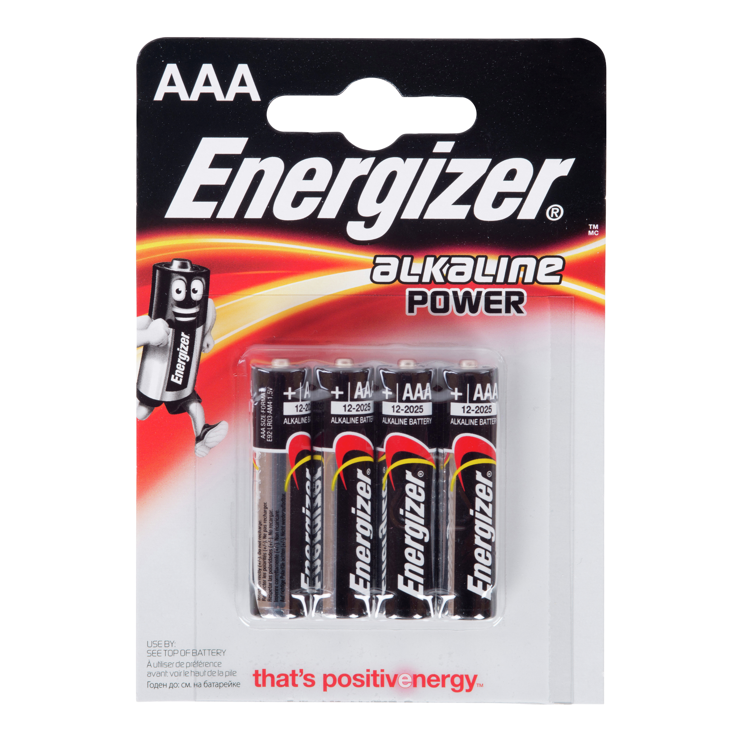 ENERGIZER 4PK LR03 AAA-BAT609