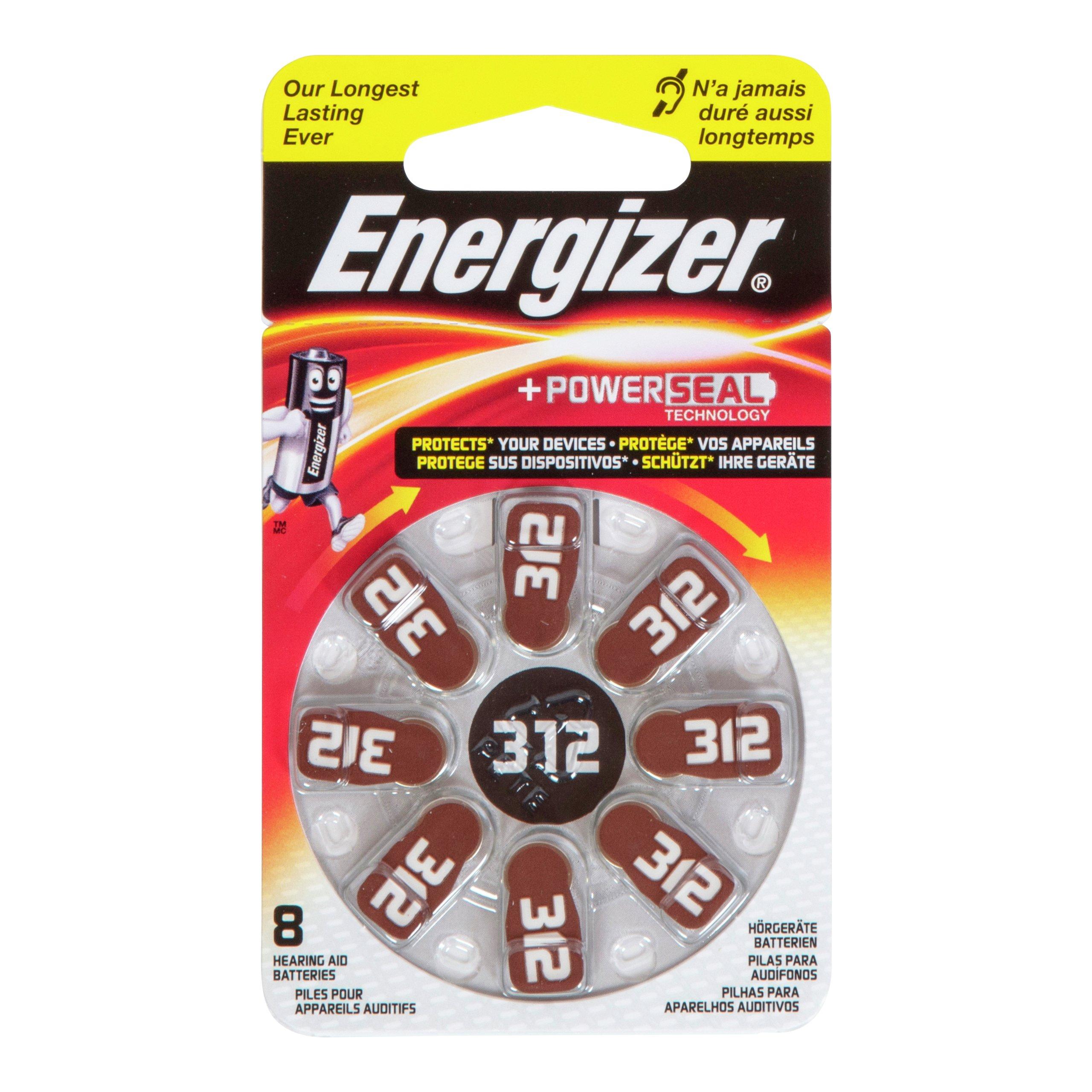 ENERGIZER HEARING AID 312 8PK-BAT633