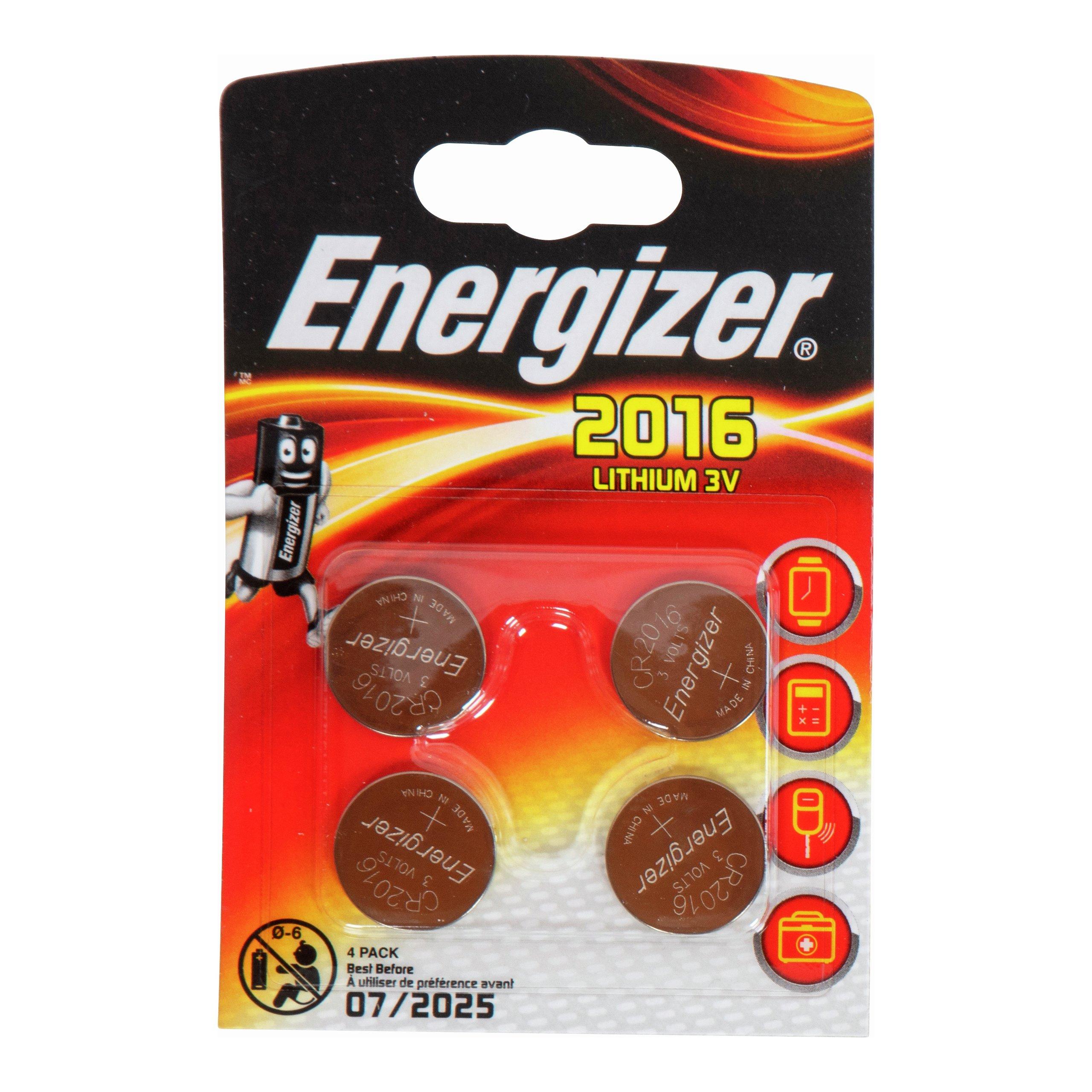 ENERGIZER LITHIUM CR2016 4PK-BAT634