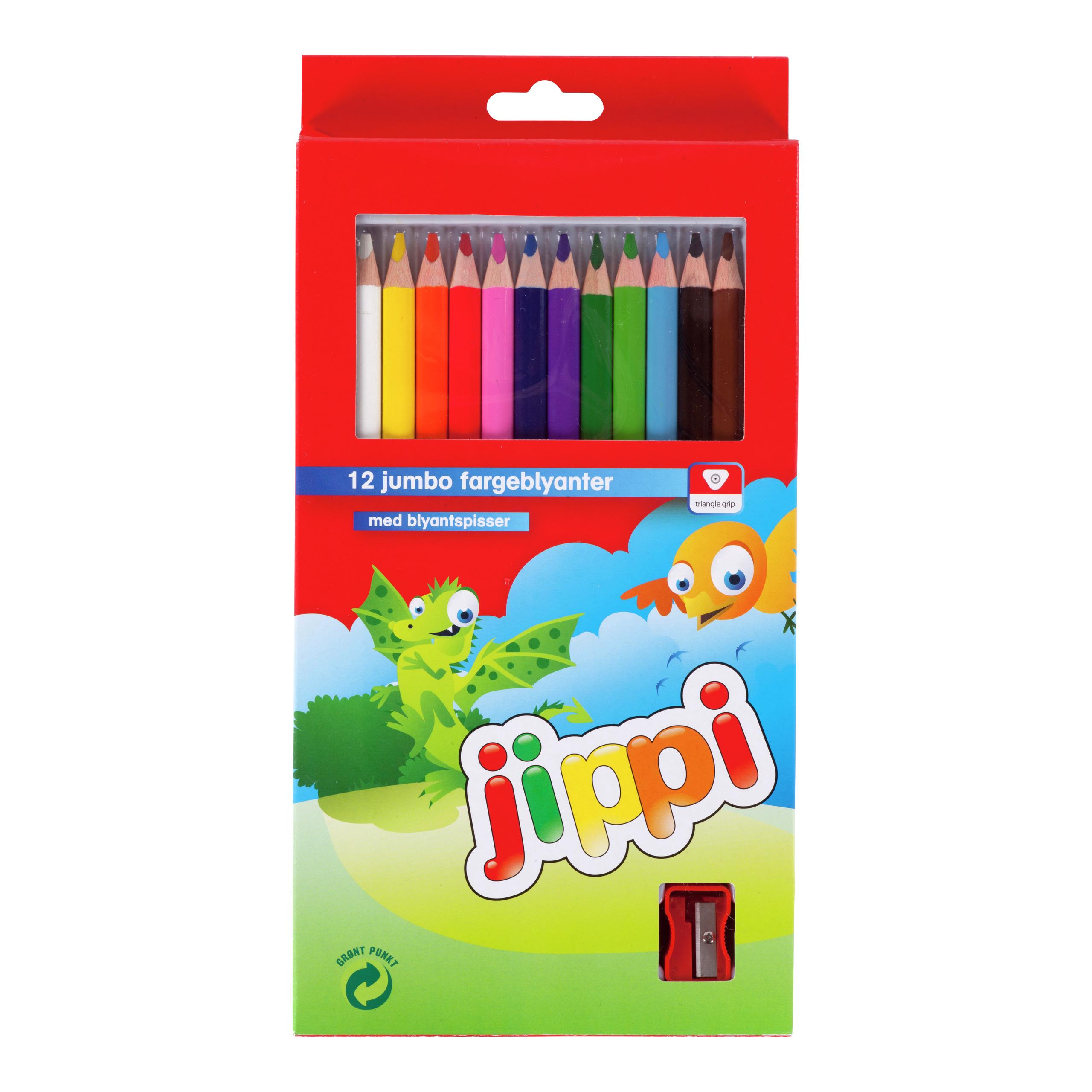 Jumbo fargeblyanter 12pk-BLY502