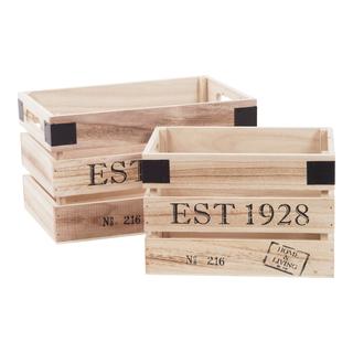 Wood Trälåda 2-pack