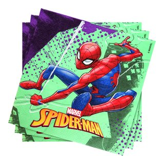 SPIDERMAN SERVIETTER 20PK-BUR2024