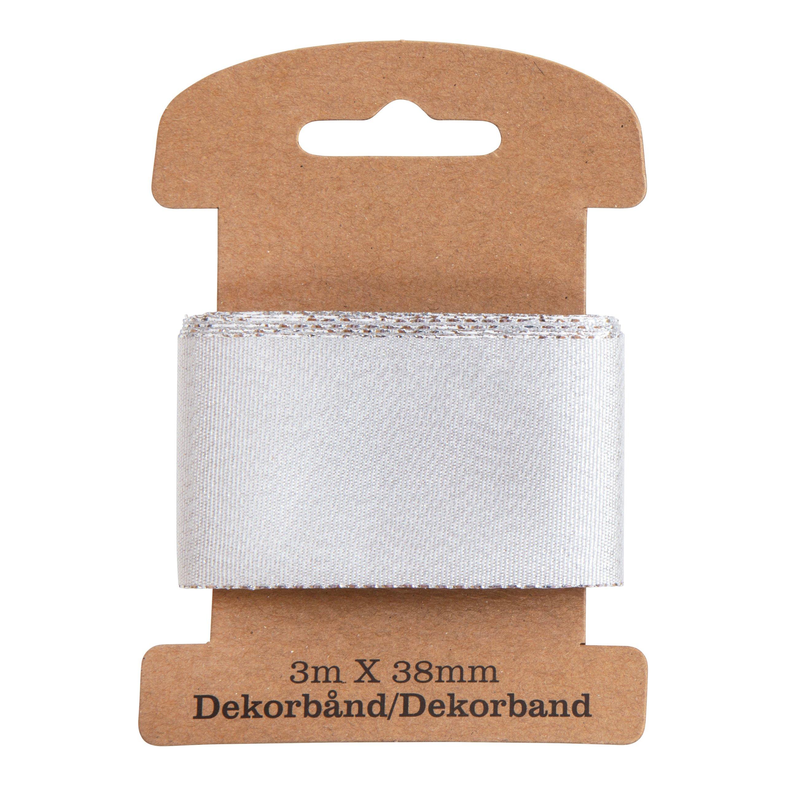 DEKORBÅND METALLIC SØLV 3M-DEK3034