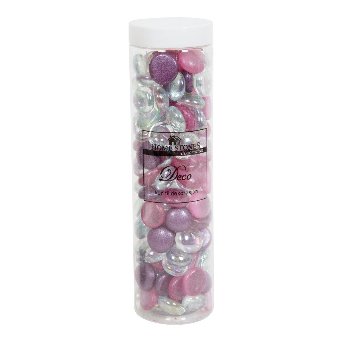 Dekorstein glass lilla mix-DEK7007