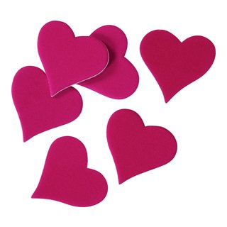 Dekor hjerter rosa-DEK865