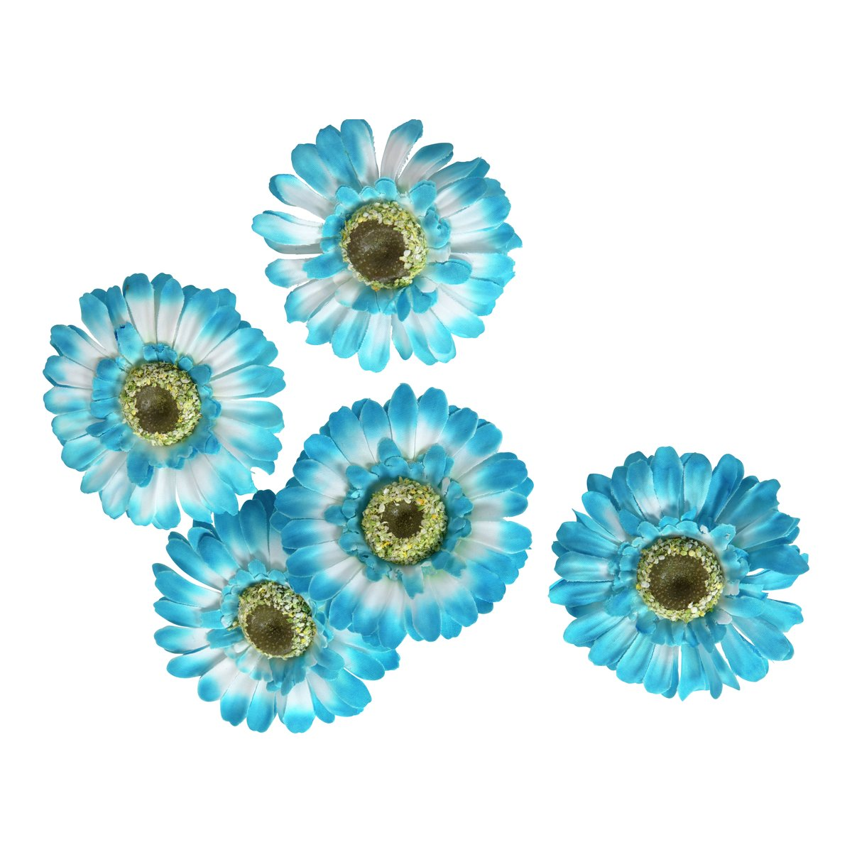 Dekor gerbera blå-DEK875