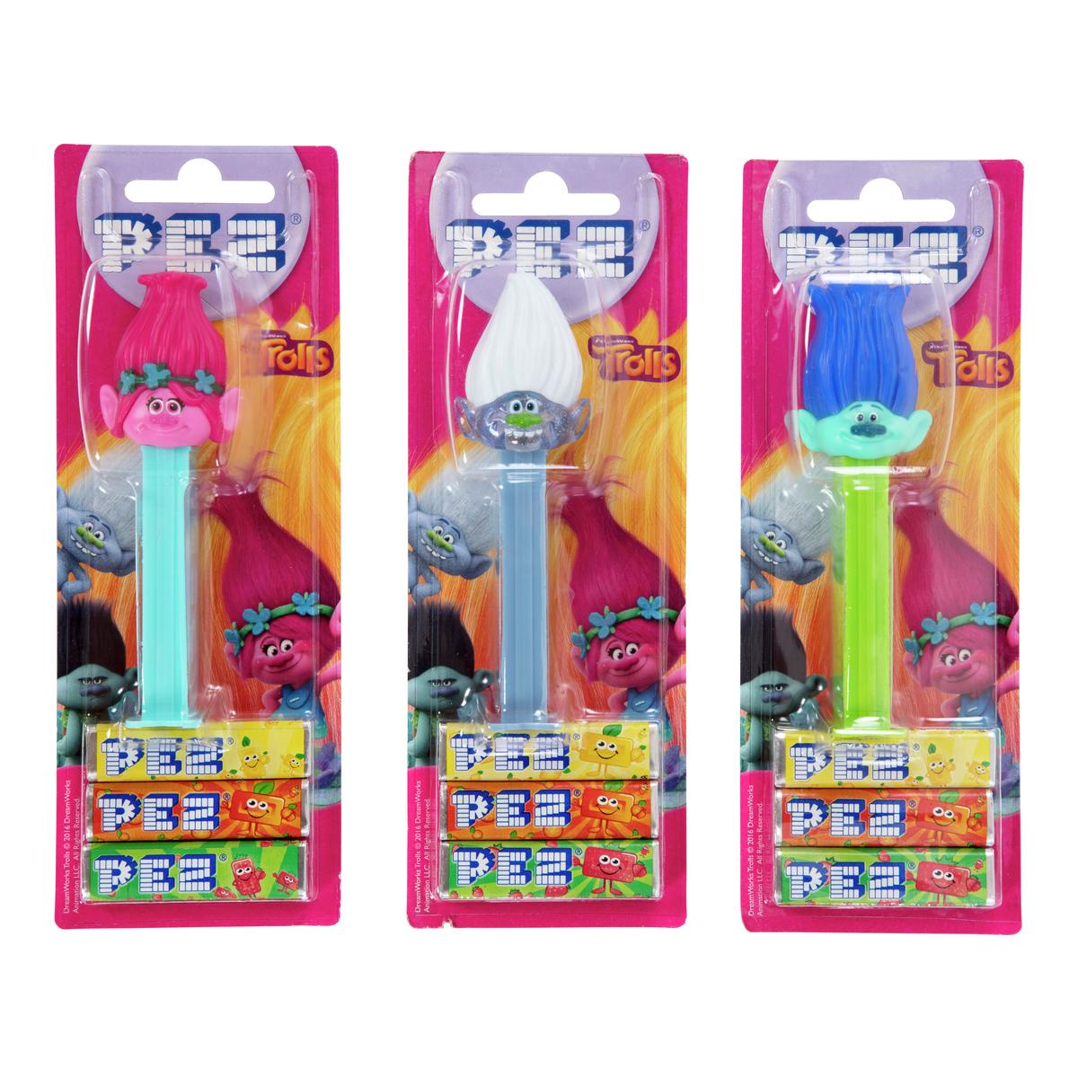PEZ med figur og 3 sukkertøystenger-DRO246
