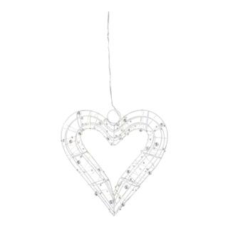 3D HEART 23CM 30LED LYS-ELM1551