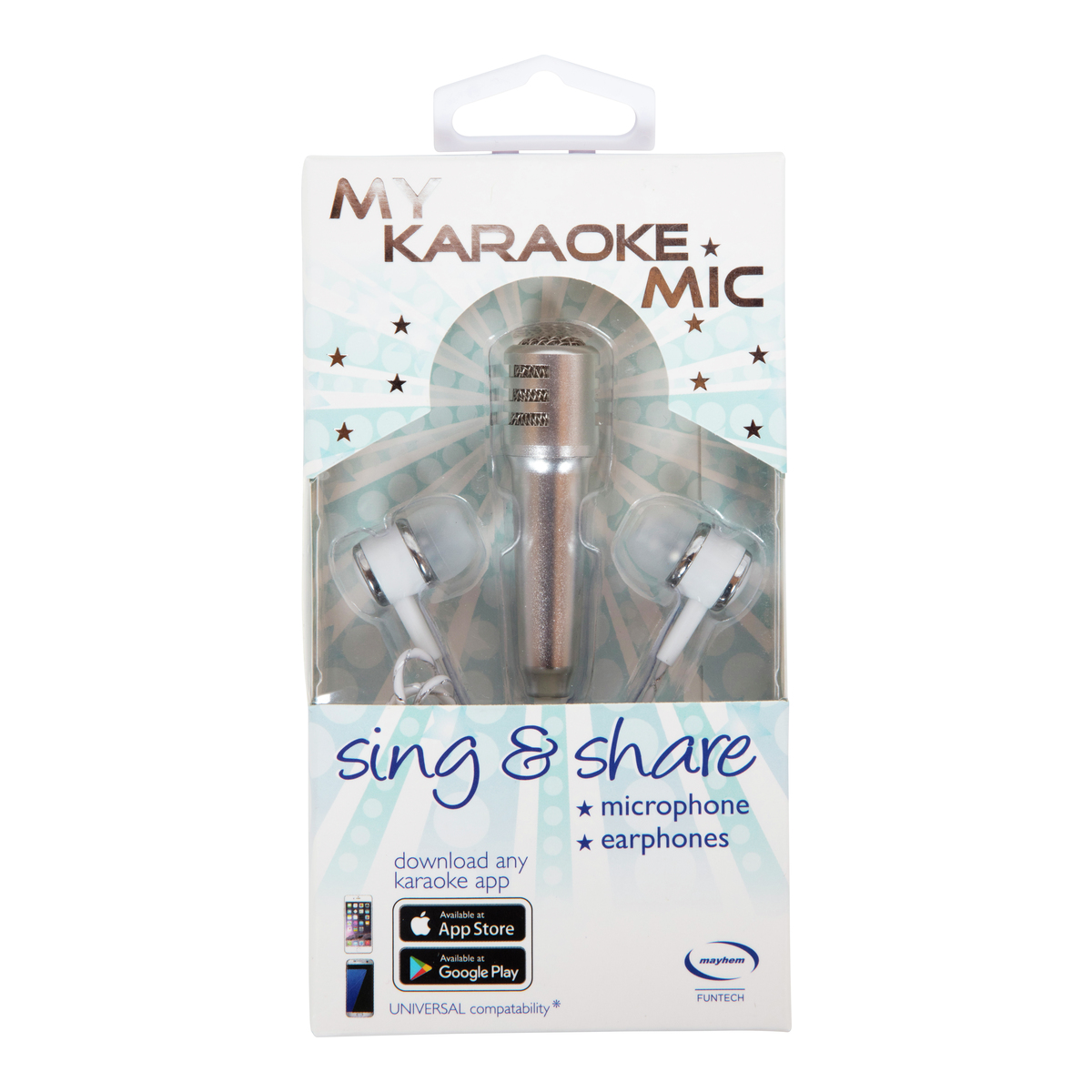 Karaoke mini mikrofon med ørepropper-ELM164