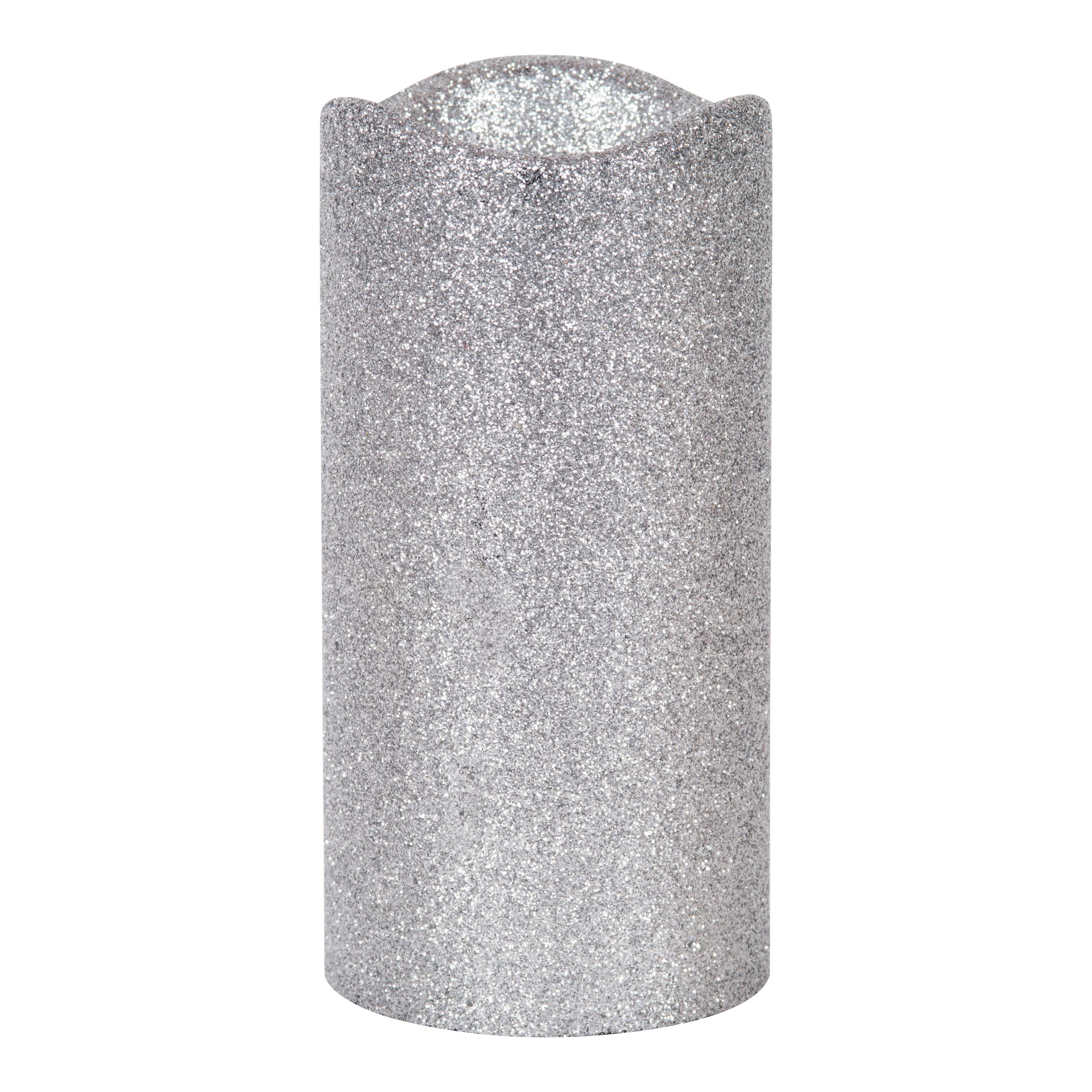 LED KUBBELYS PLAST H15CM SØLV-ELM3032