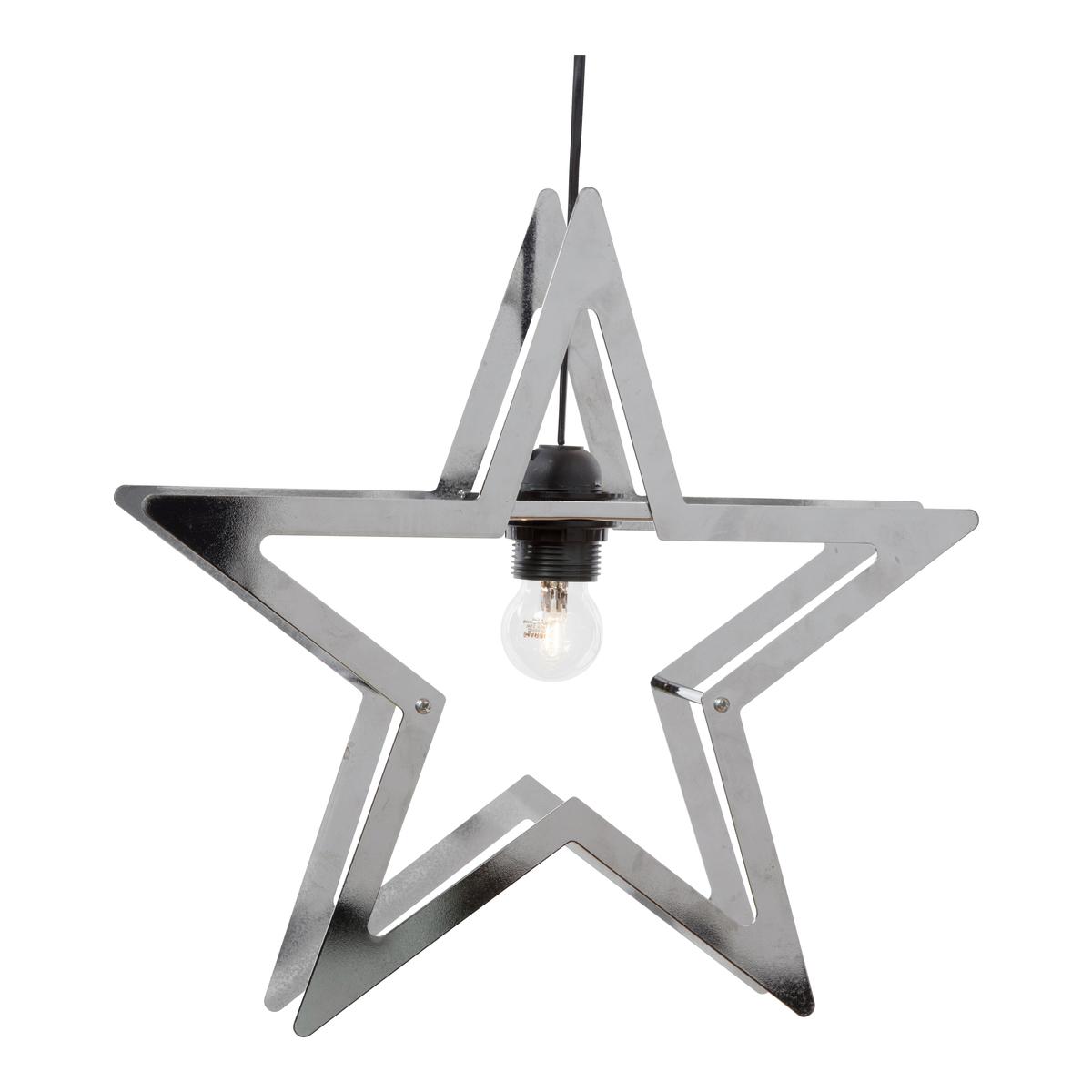 Metallstjerne 38cm