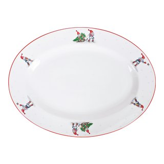 GOD JUL SERVERINGSFAT OVAL 35CM-FAT910