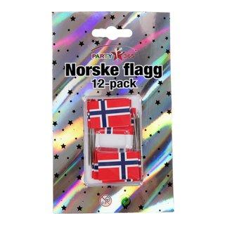 Norsk flagg med nål-FLA091