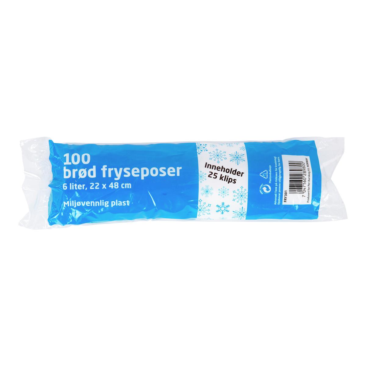 Brødposer 100pk-FRY301