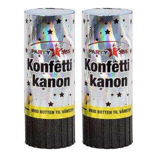 KONFETTI 2PK 11 CM M/FJÆR-FYR519
