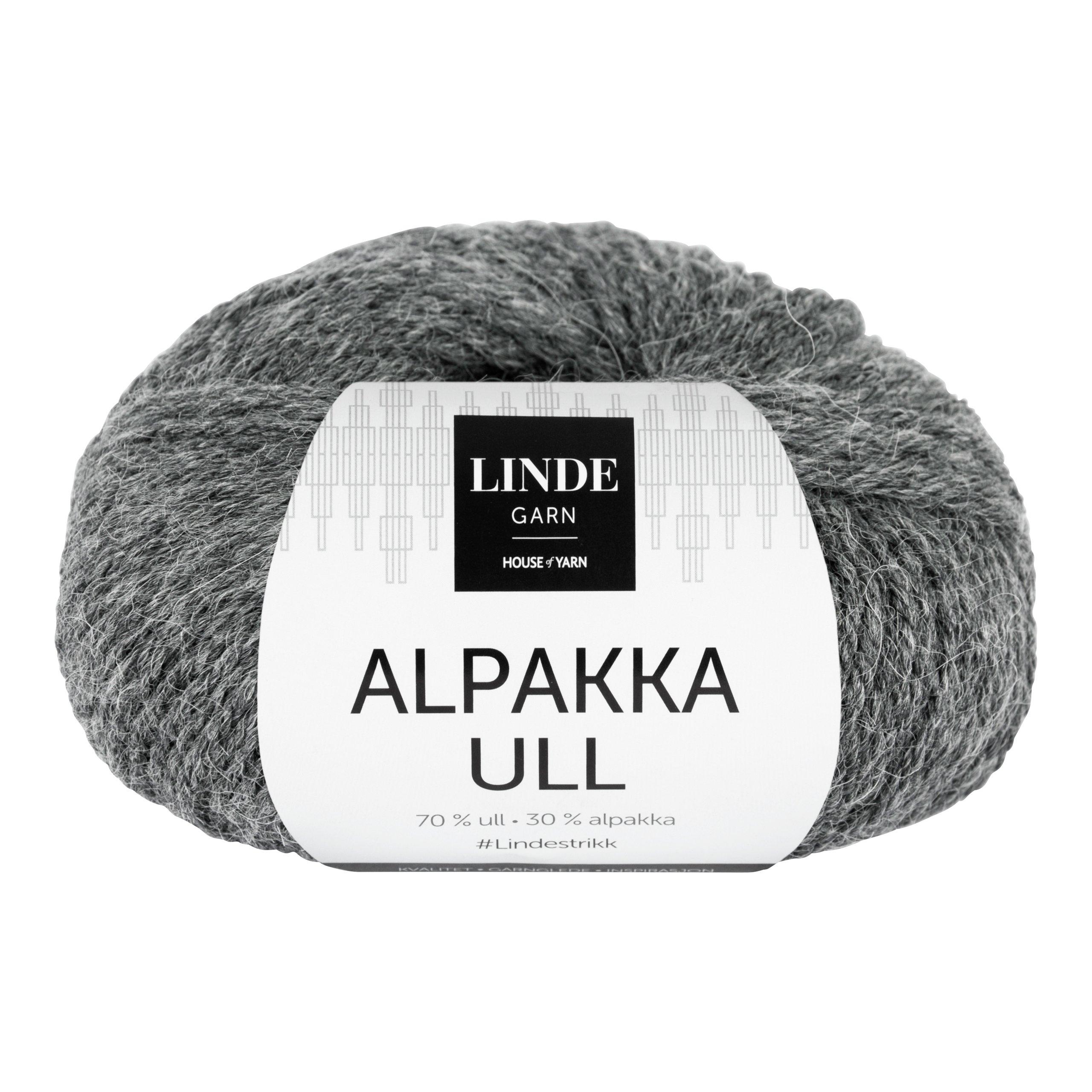LINDE ALPAKKAULL 402 MØRK GRÅ-GAR5402