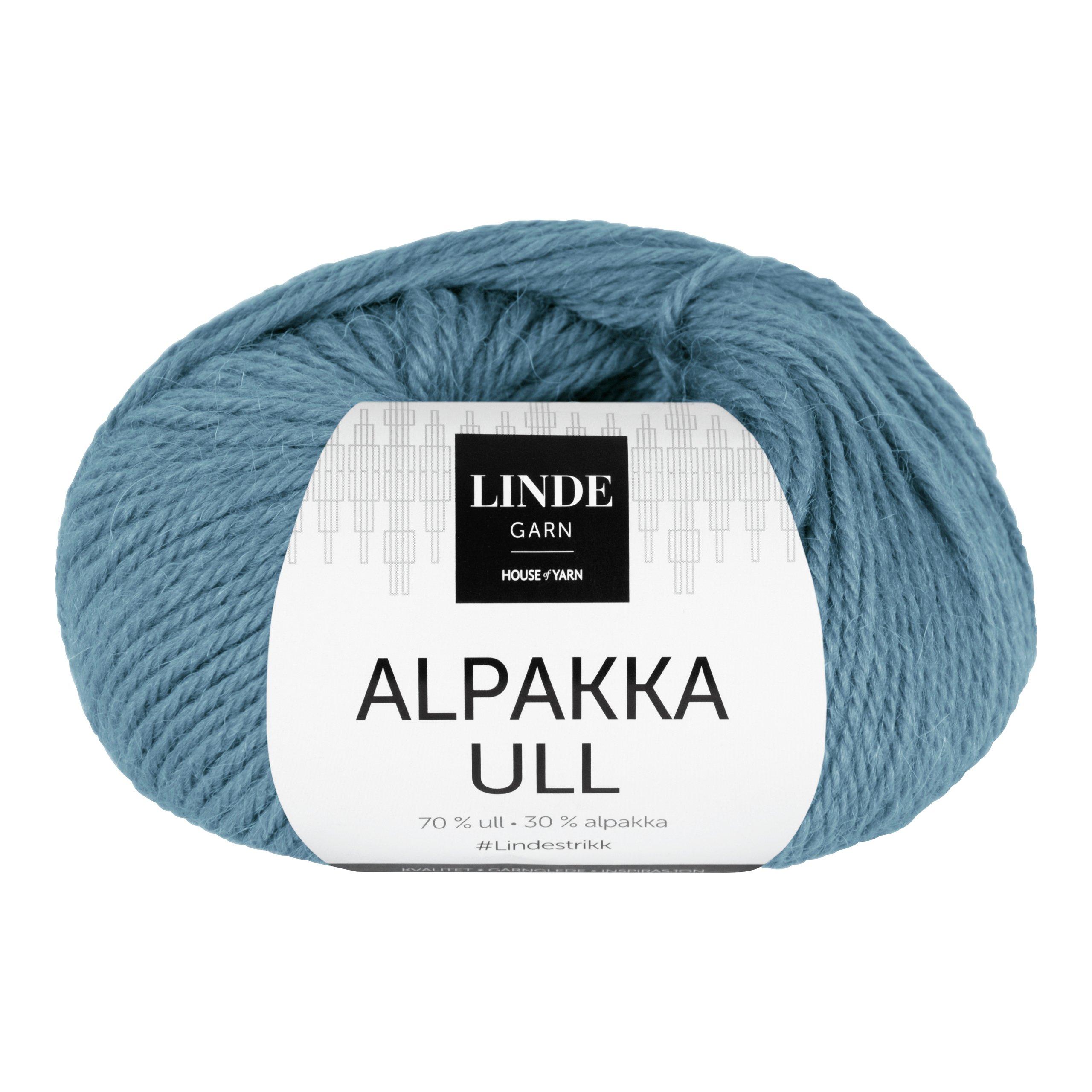 LINDE ALPAKKAULL 408 DENIMBLÅ-GAR5408