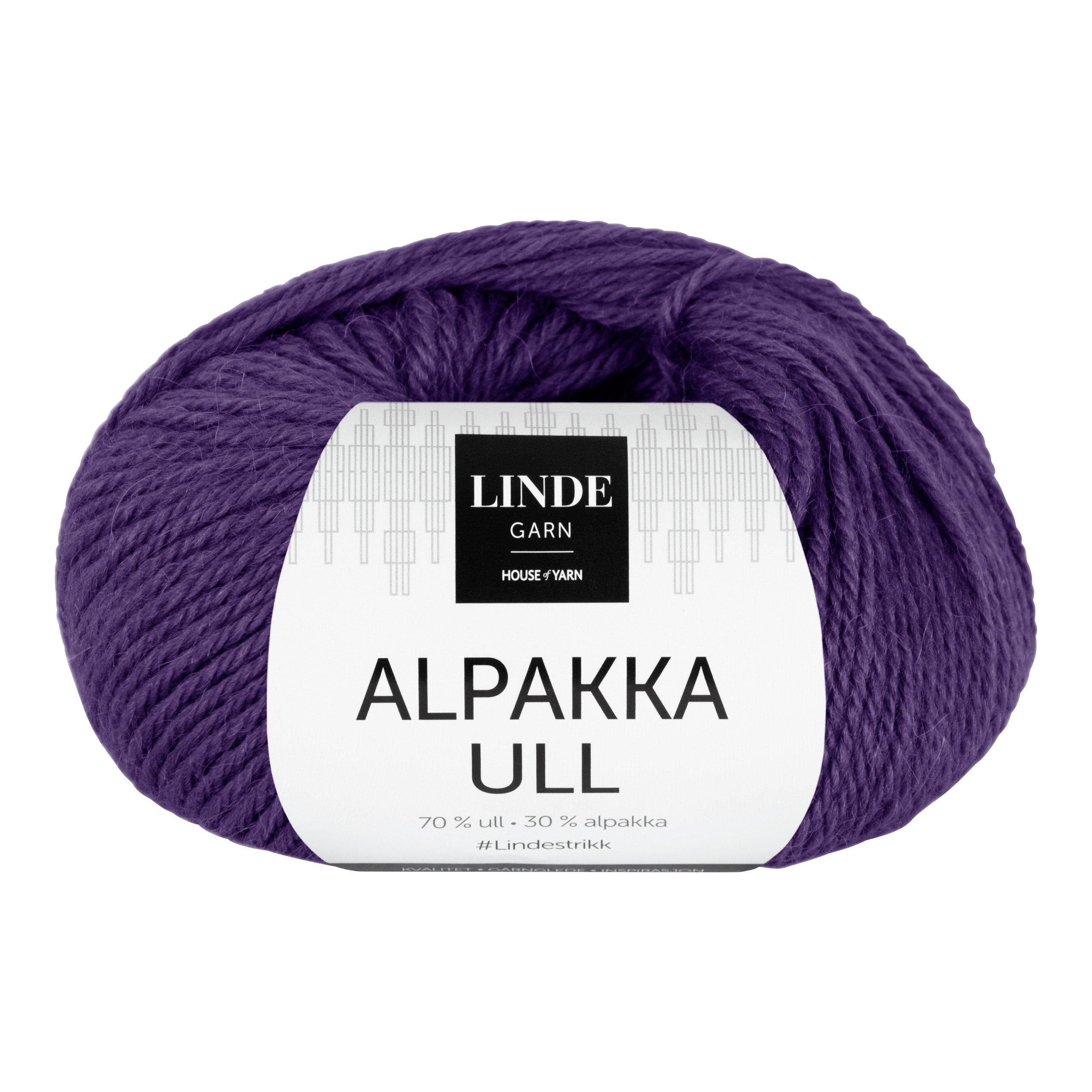 LINDE ALPAKKAULL 414 BLÅLILLA-GAR5414