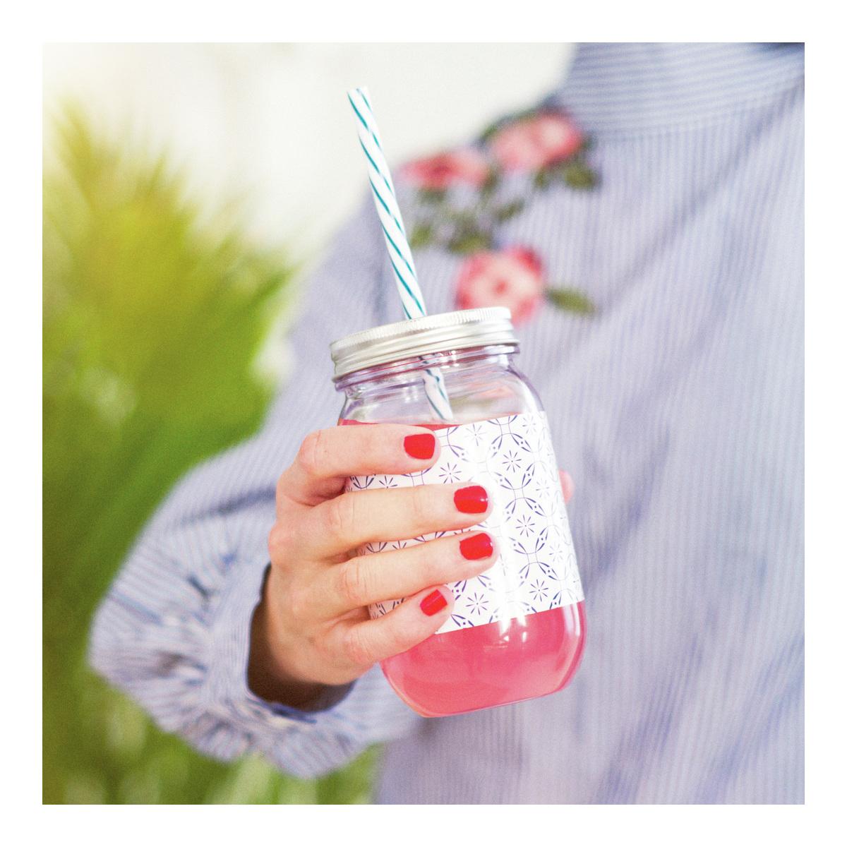 Drikkeglass m/sugerør-GLA1003