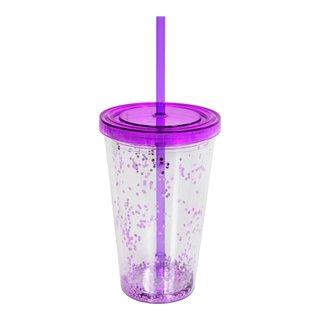 Drikkeglass med sugerør-GLA2019