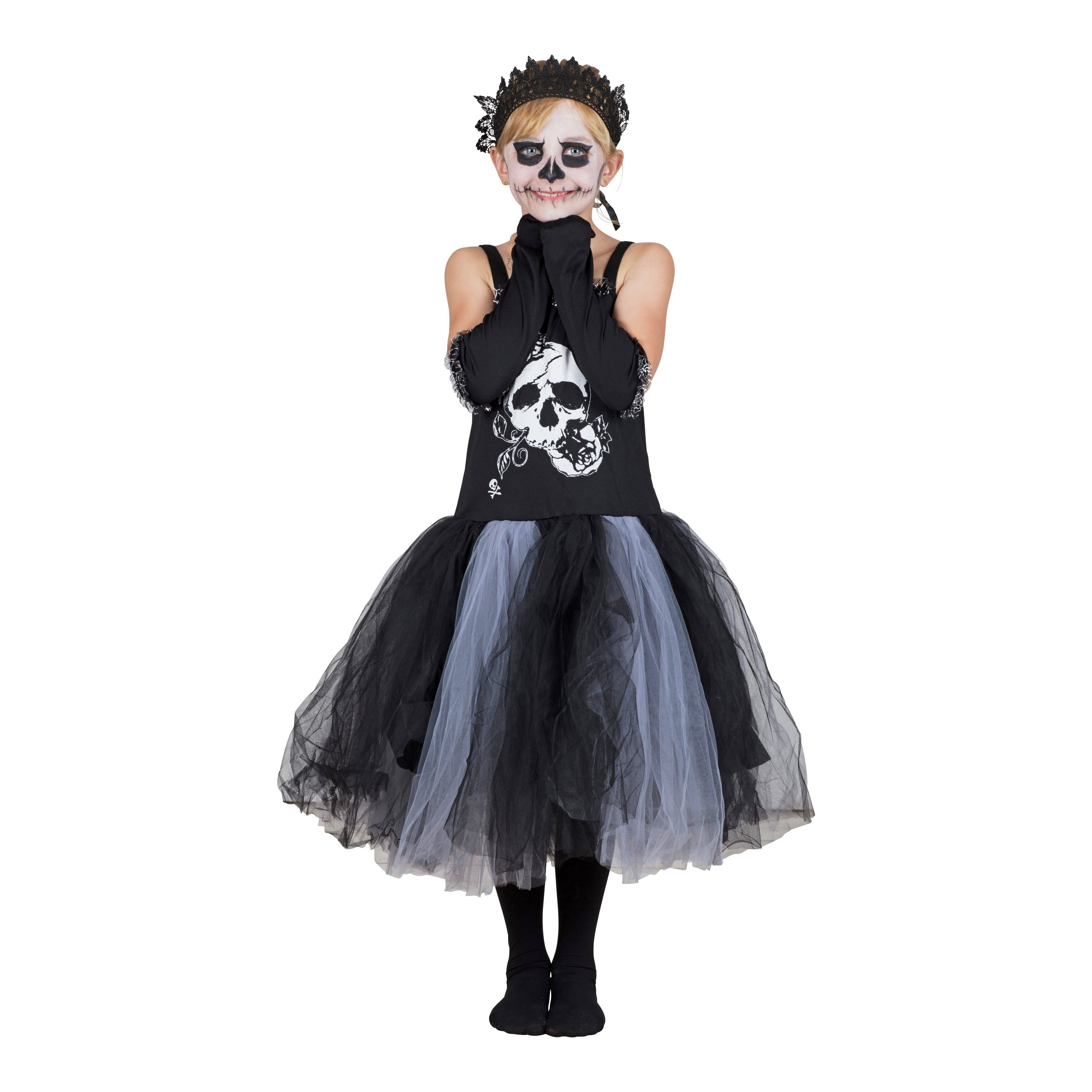 KOSTYME SKULL TUTU DRESS, L-HAL1244