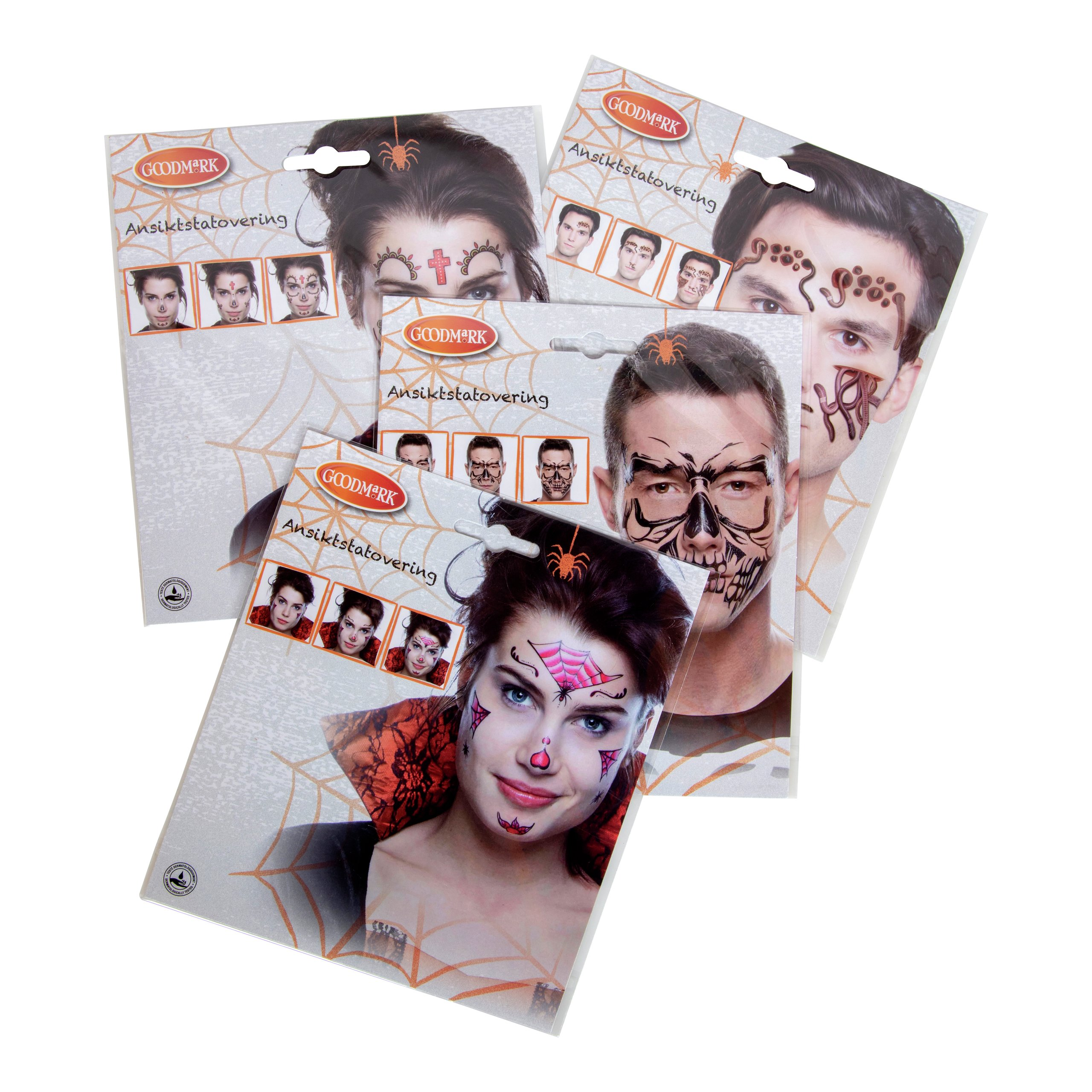 HALLOWEEN FACE TATTOOS V4-HAL2044