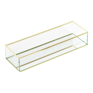 Glas box med spegel