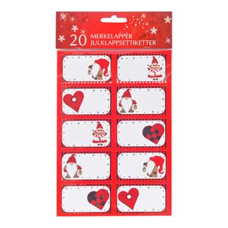 Julklappsetiketter 20-pack