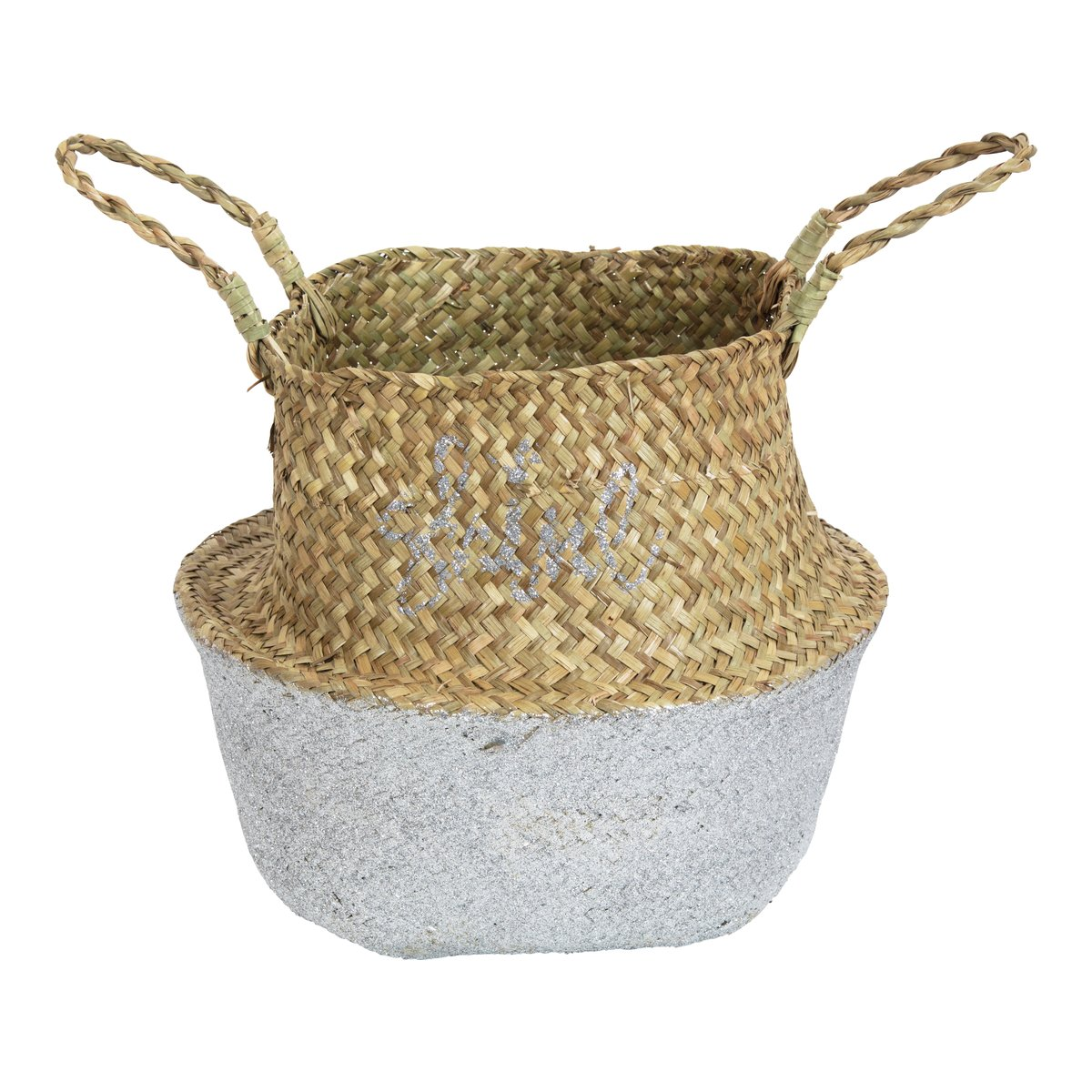 Stråkurv shine silver-KUR3051