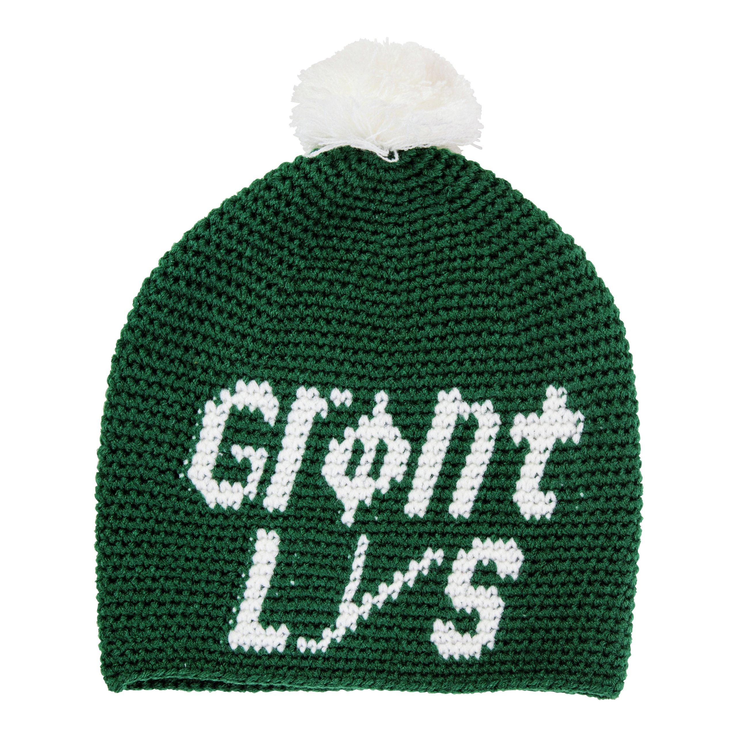 LUE M/TEXT GRØNT LYS GRØNN-LUE514