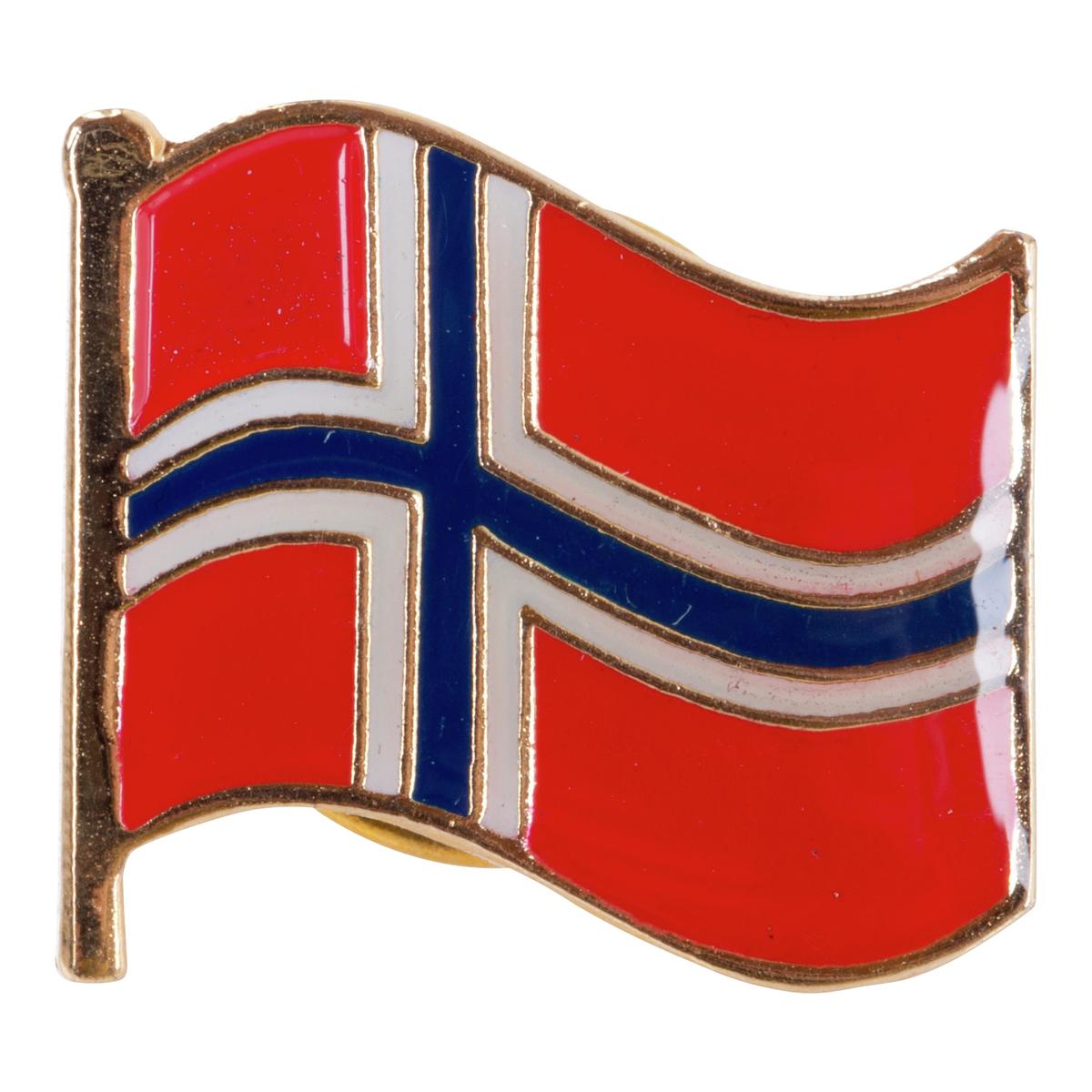 Pin med Norsk flagg-MAI007