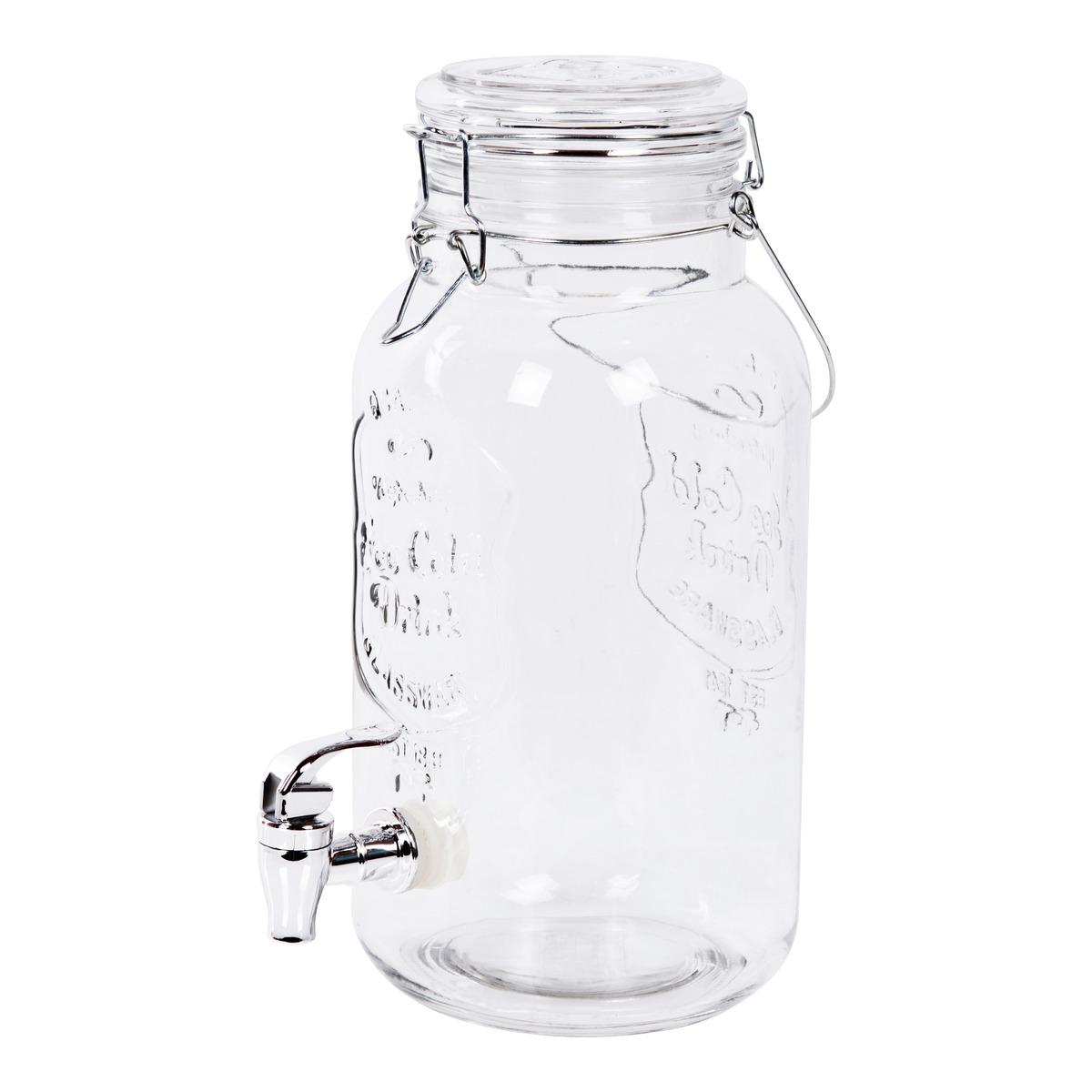 Glassbeholder m/tappekran-MUG835