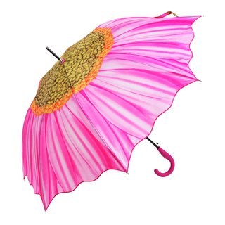 Paraply rosa blomst-PAR515