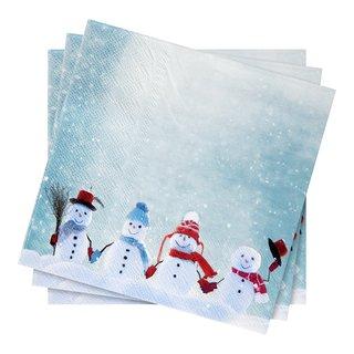 SNOWMEN FRIENDS SERVIETTER 20P-SER1595
