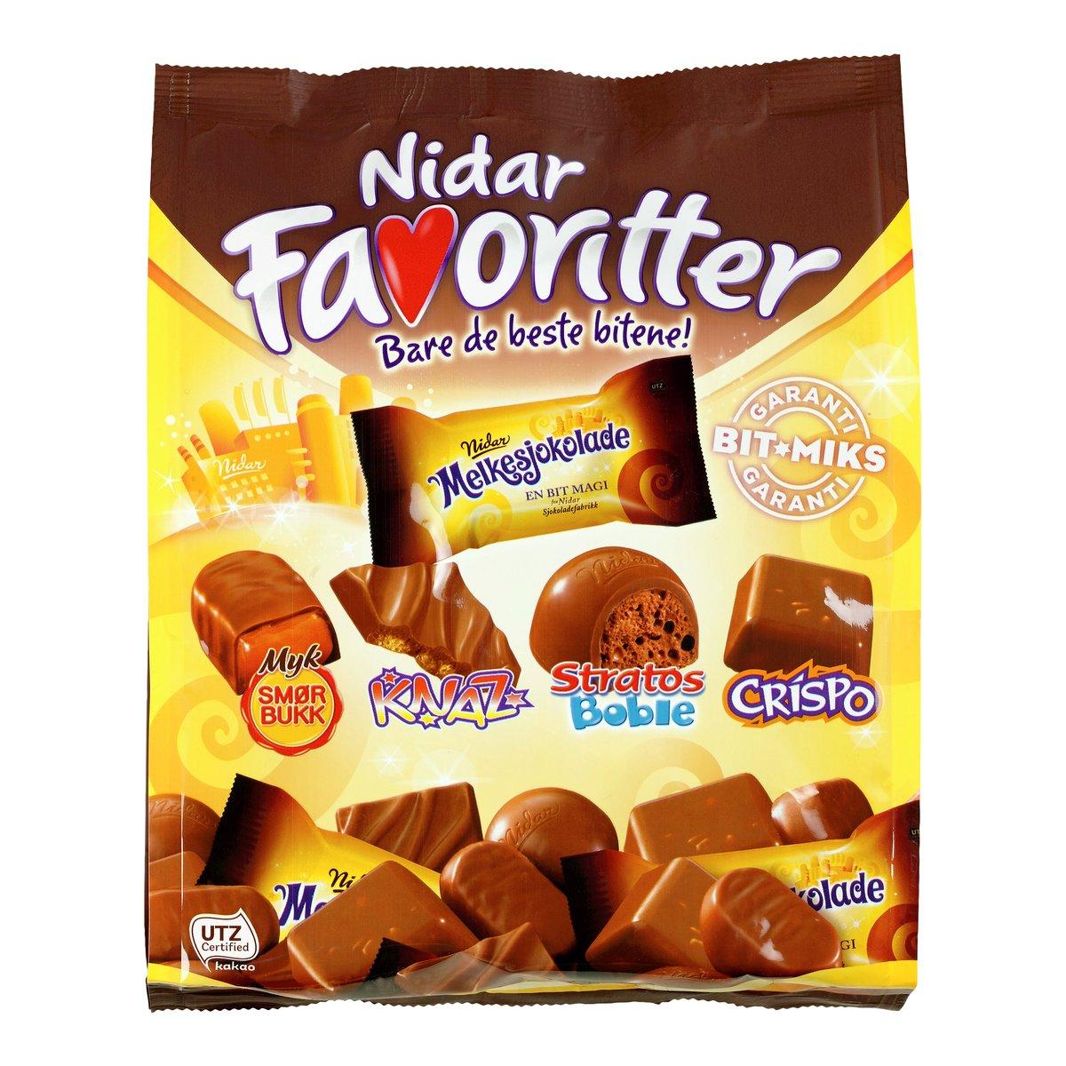 Nidar Favoritter Melkesjokolade-SJO533