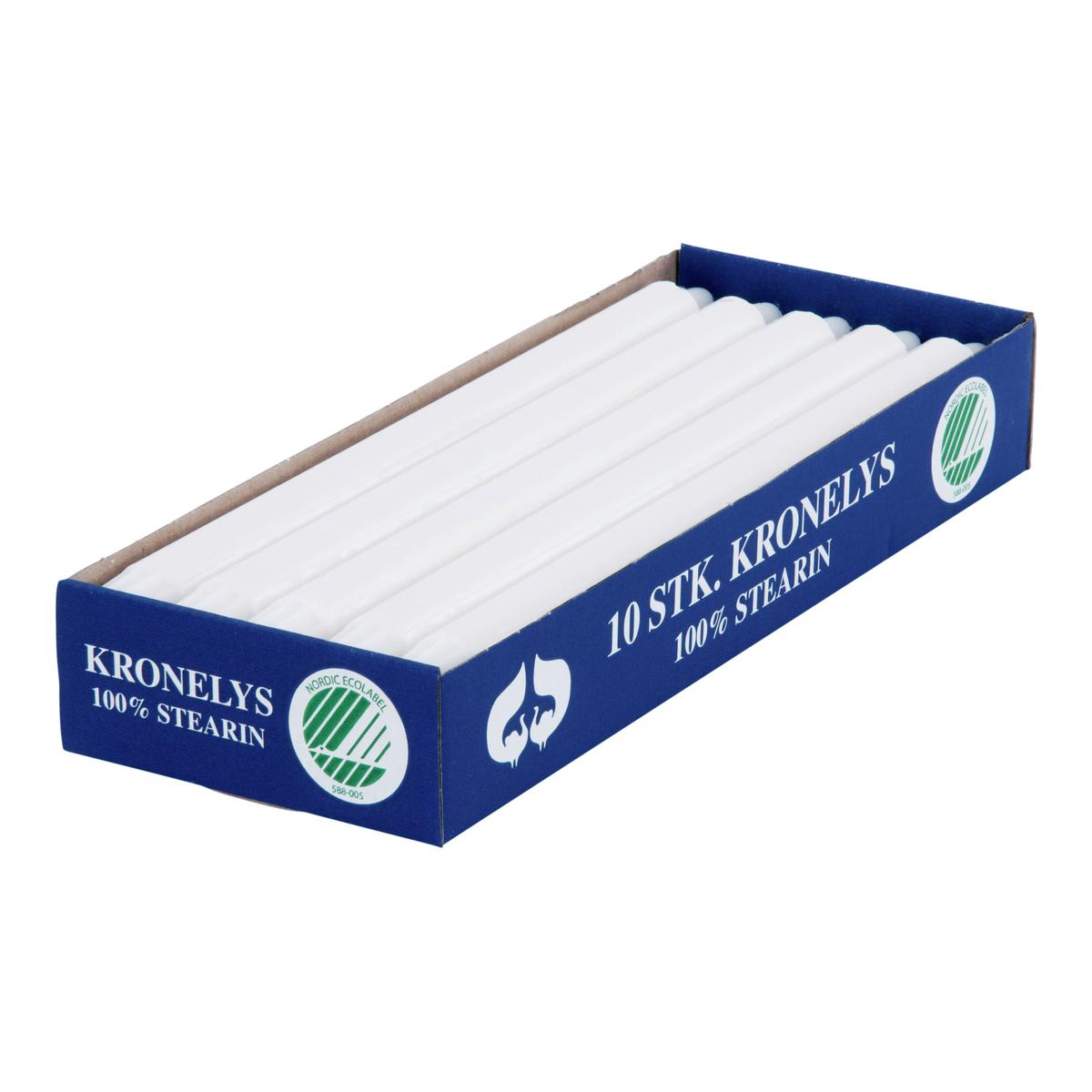Kronelys 100% stearin 10pk-STE2801