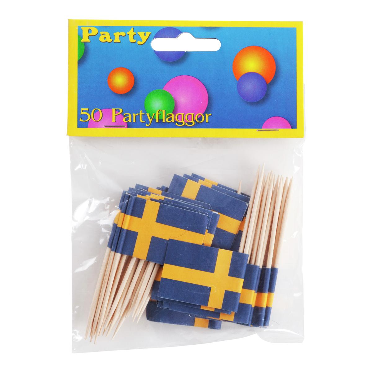 Partyflaggor 50-pack