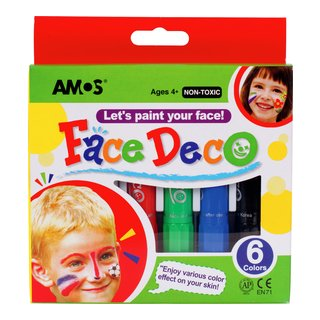 barn, maling, ansikt, karneval, halloween, sminke