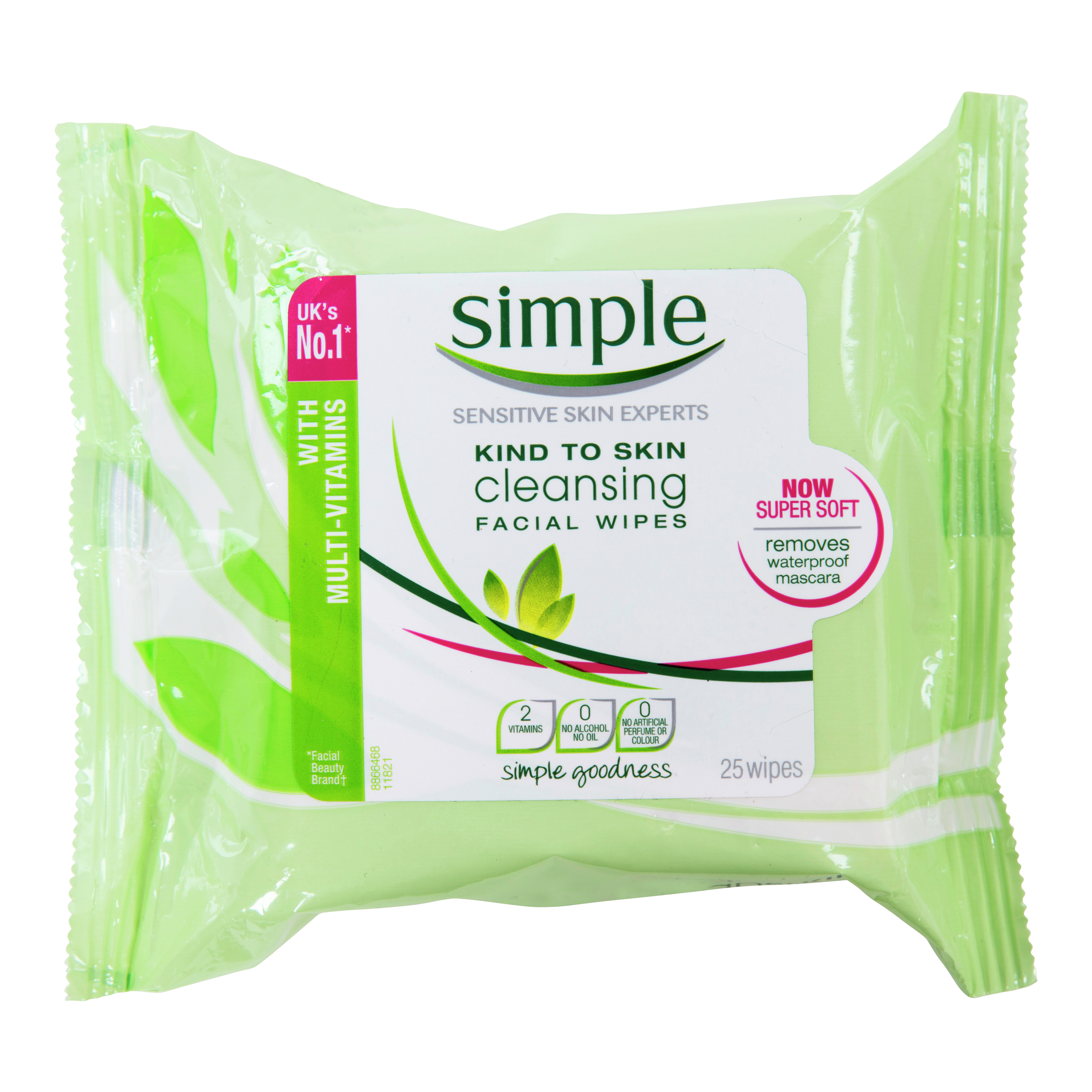 SIMPLE FACE CLEANING WIPES-WET002